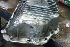 Сварка поддона двигателя (картера)