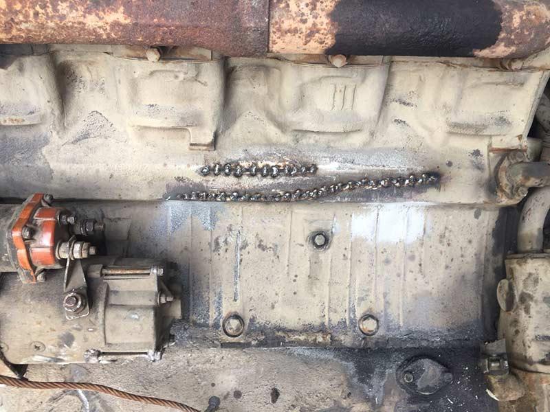 Сварка чугунных блоков двигателей