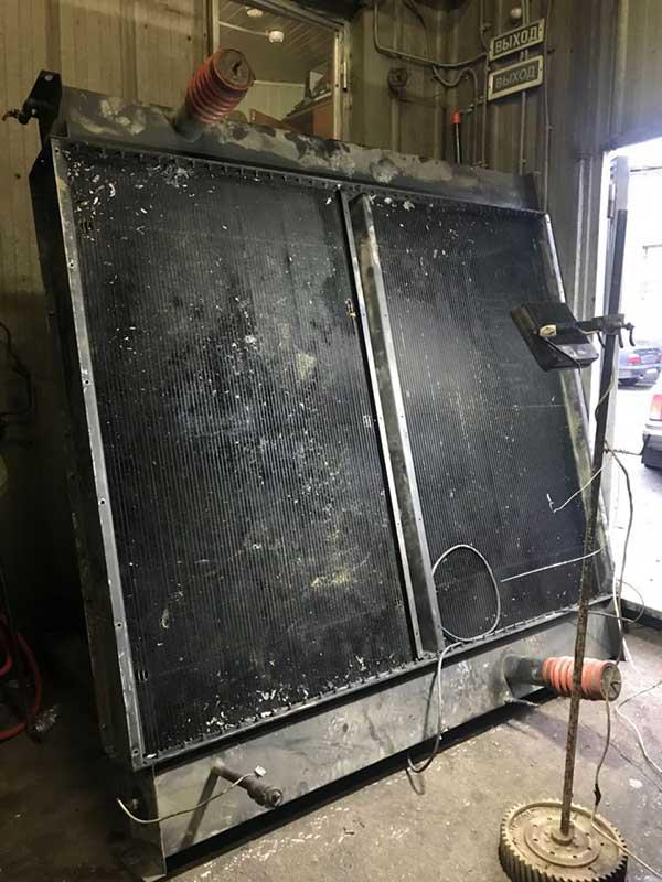 Ремонт больших радиаторов энергостанции примеры работ